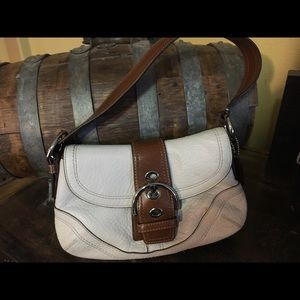 Coach Withe Leather Satchel